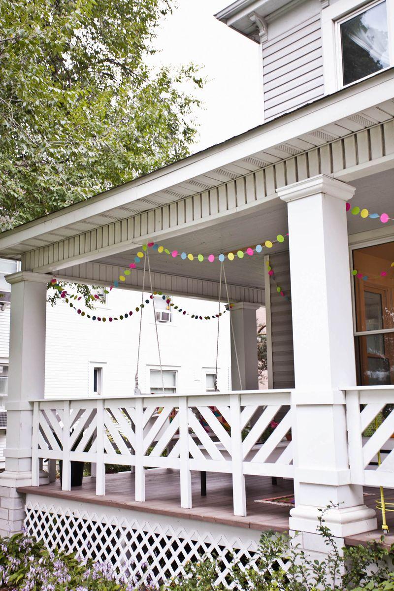 DIY front porch rail