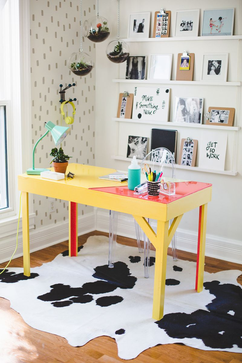 Office desk w: color infused epoxy top (click for more details)