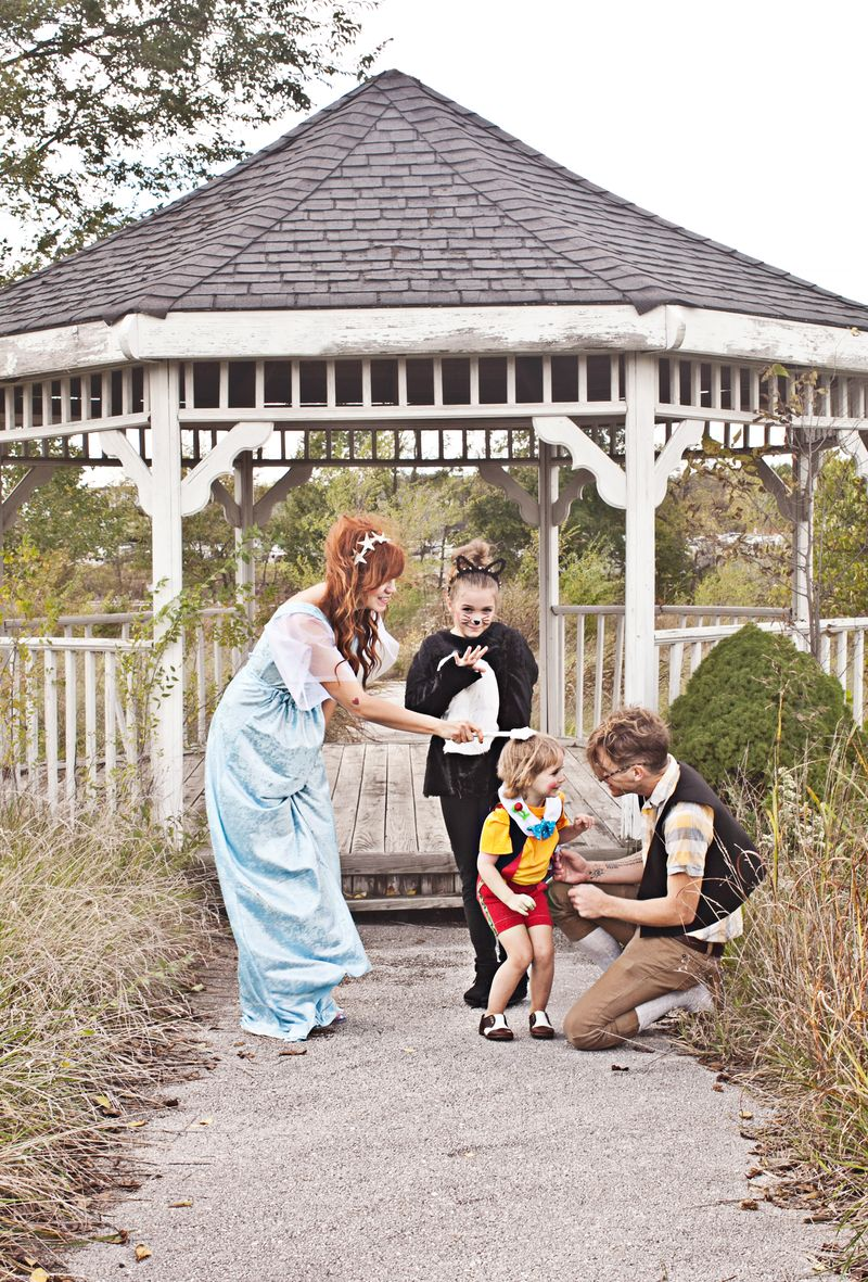 Love this Pinocchio themed family costume
