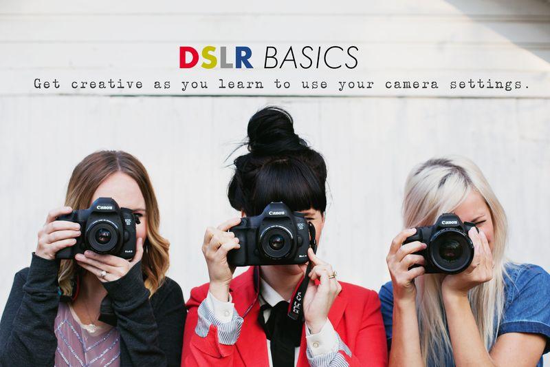 DSLR Basics E-Course! Sign up at shop.abeautifulmess.com