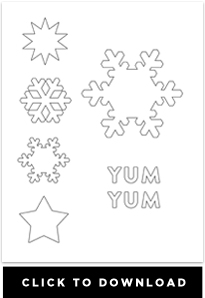 downloadable snowflake template