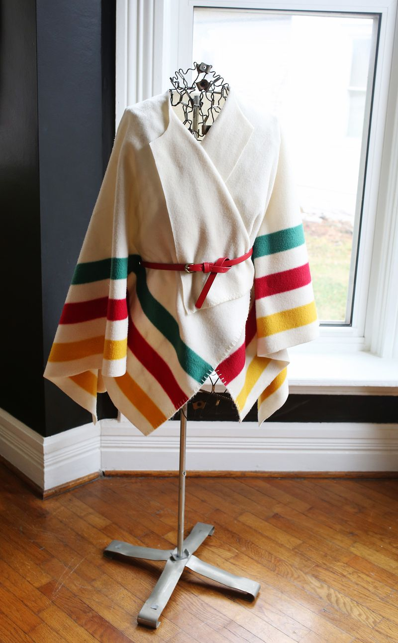 No sew poncho tutorial via A Beautiful Mess