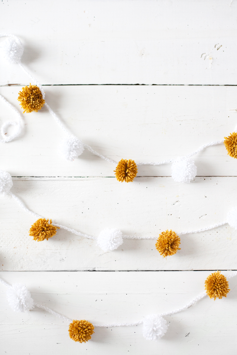 Five homemade holiday garlands to make this season— Including this easy pom pom garland