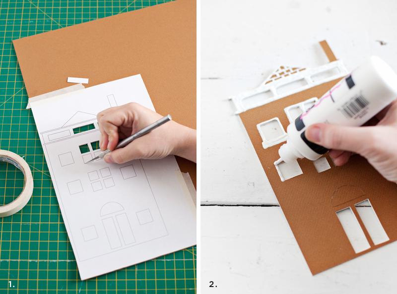 Make a winter village— So easy!