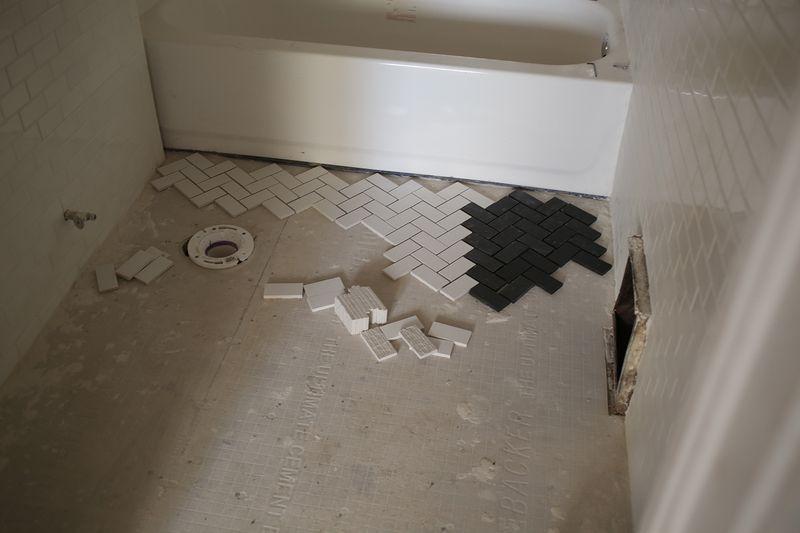 Bathroom floor peek