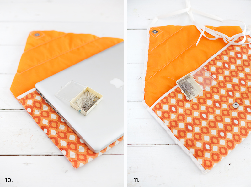 Make this simple and fashionable laptop sleeve- it's even padded and water resistant!