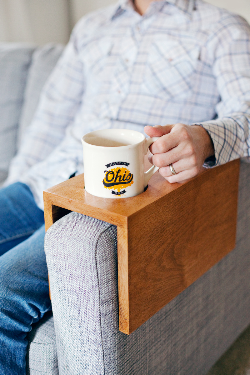 Wooden Sofa Sleeve with Cup Holder - A Beautiful Mess