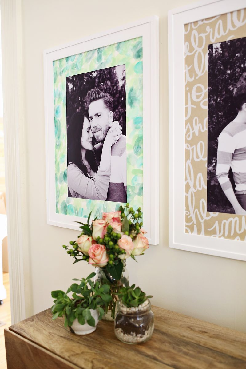 Make Your Own Patterned Photo Mats A Beautiful Mess