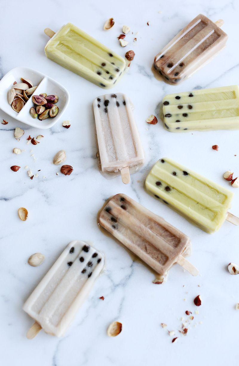 Nut Milk Creamsicles with Boba (via abeautifulmess.com)