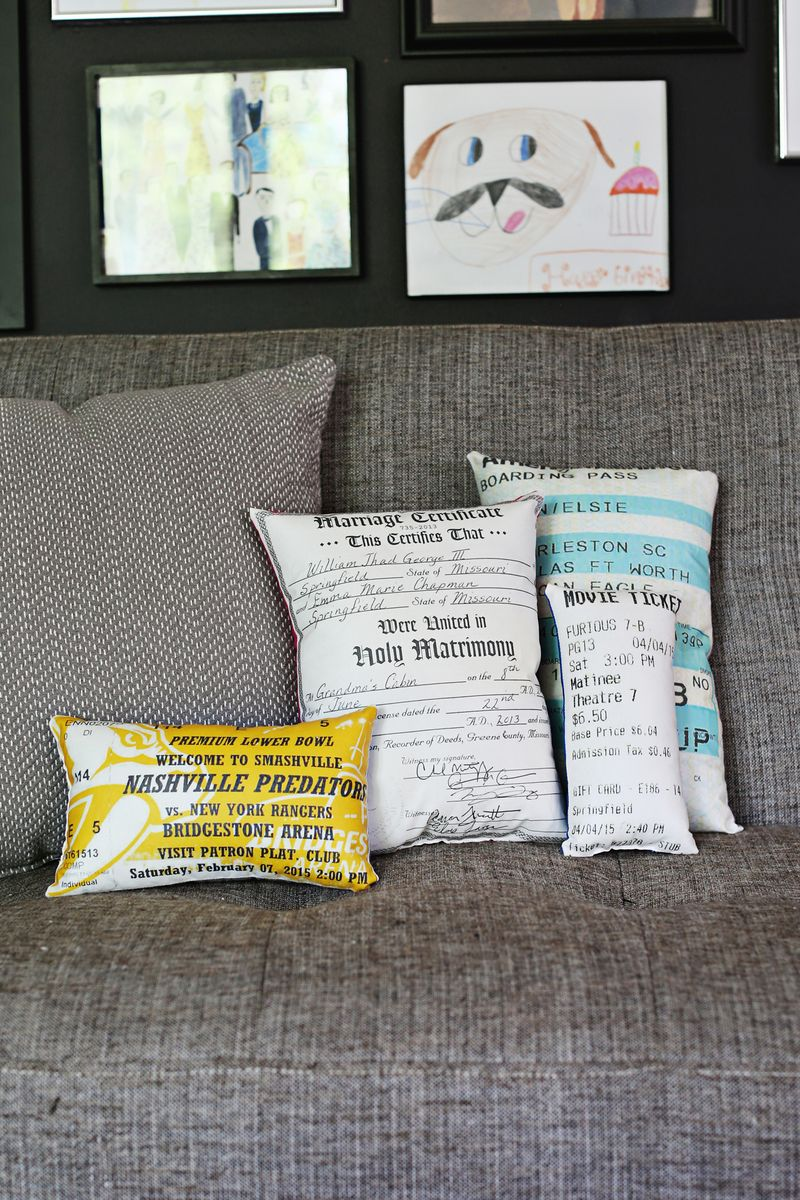 Document plush pillow DIY
