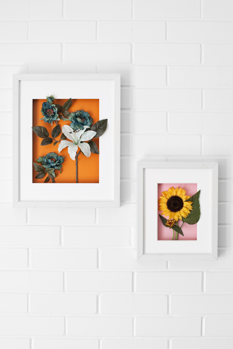 Make these floral shadow boxes