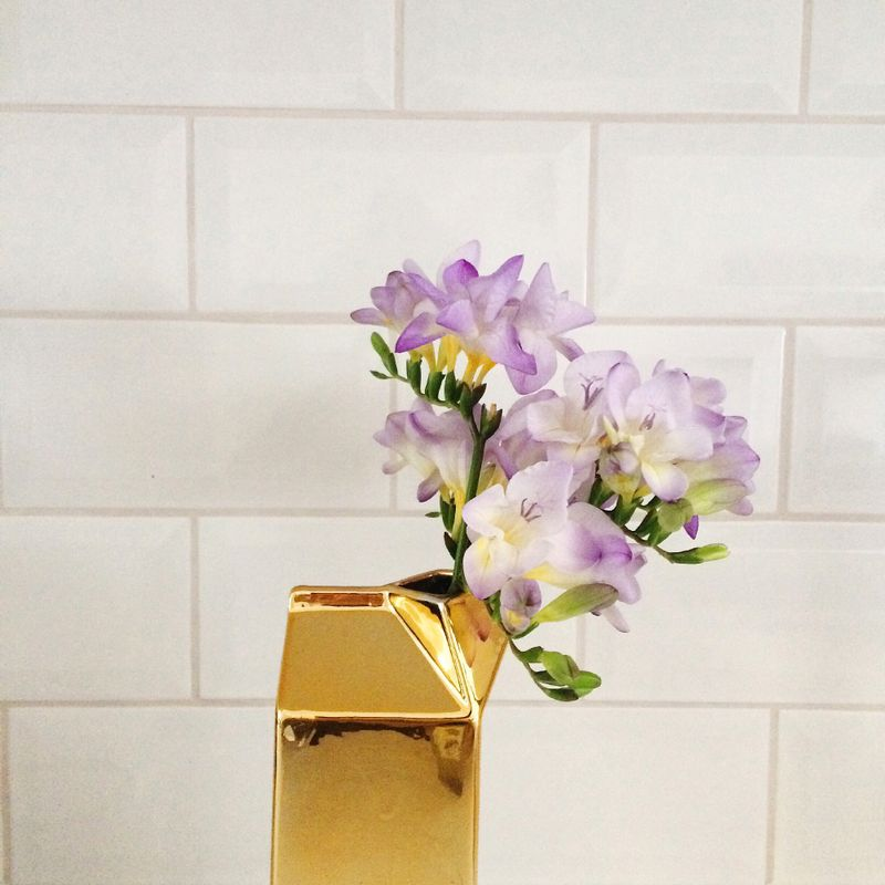 Gold milk carton