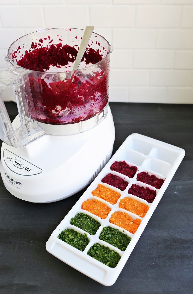 How to make vegetable ice cubes for smoothies