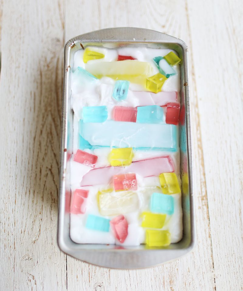 How to make stained glass soap