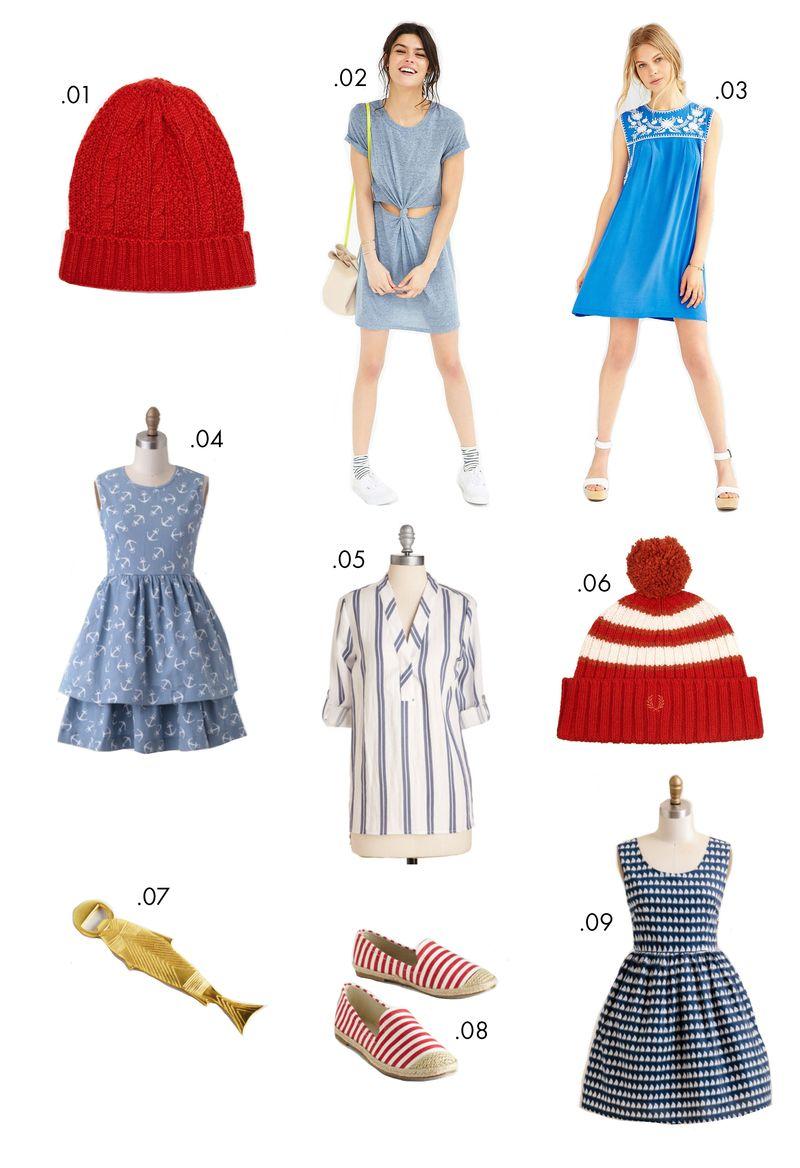 Nautical themed wears