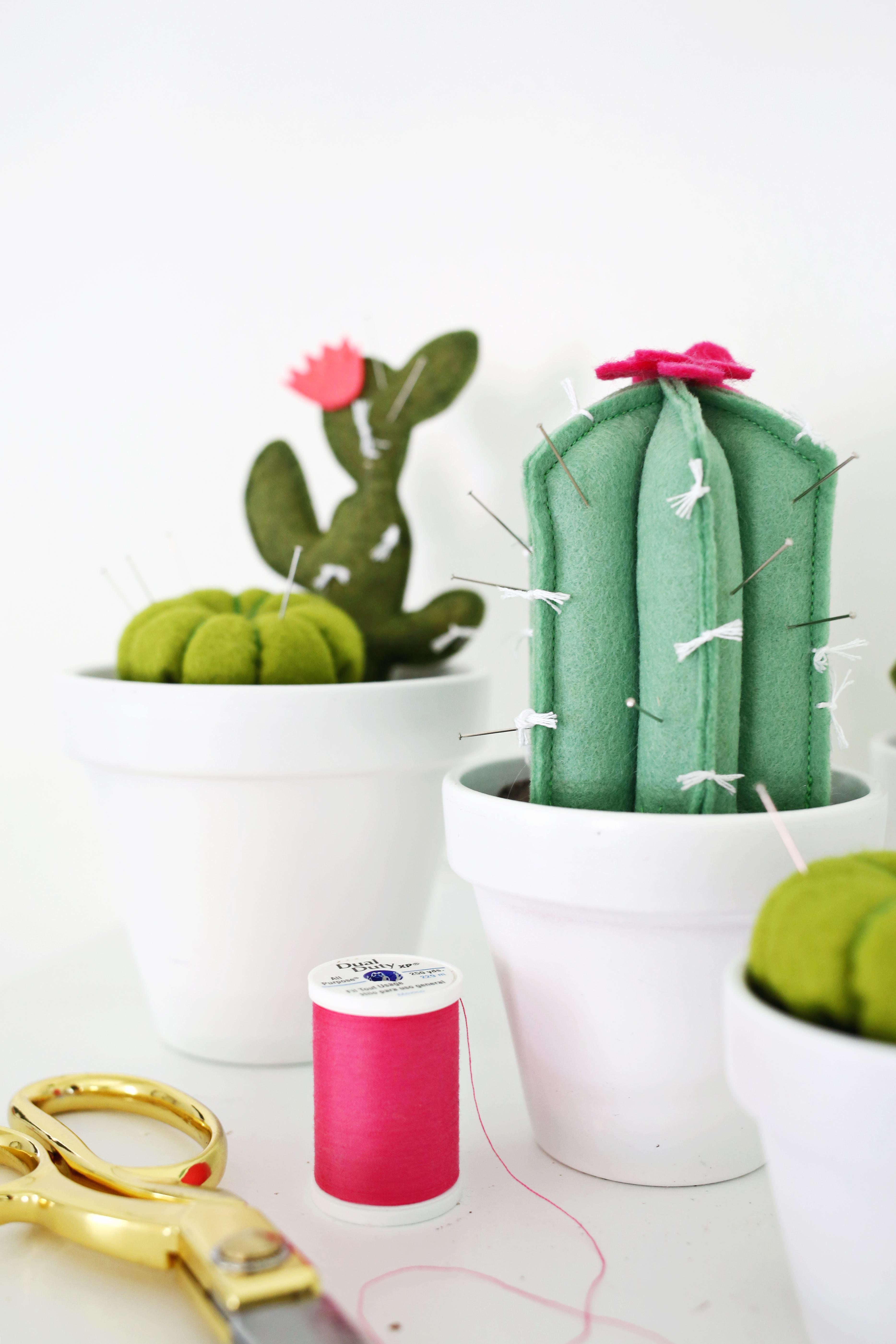 Cactus Pincushion DIY - A Beautiful Mess