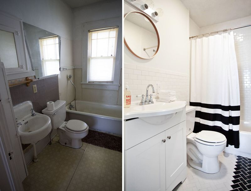 Hfhs House Bathroom Laundry Before After A Beautiful Mess