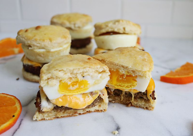 Best Ever Buttermilk Biscuit Sandwiches (via abeautifulmess.com)