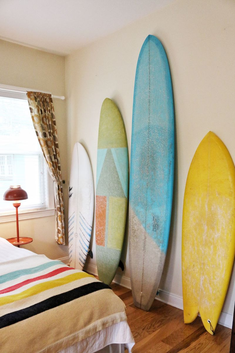 Surf board decor