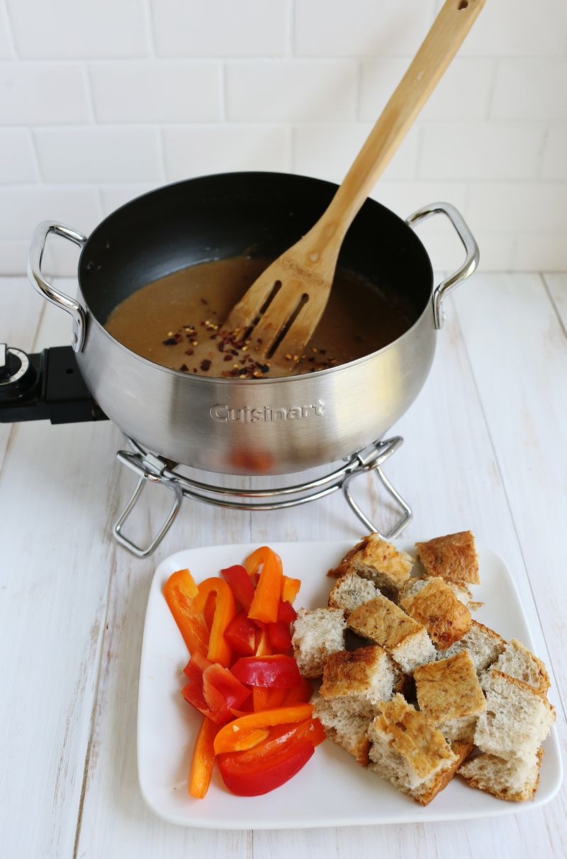 Spicy and stout fondue