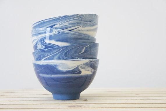 Marbled Ceramic Bowls