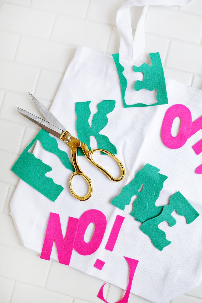 Love this! %22Oh Kale No!%22 shopping bag DIY (click through for tutorial)