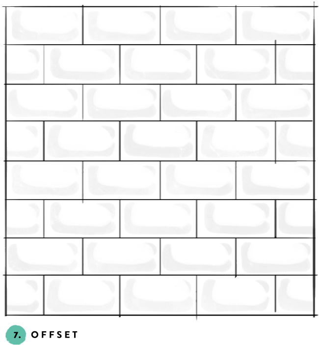 What's your favorite subway tile pattern? 7- offset