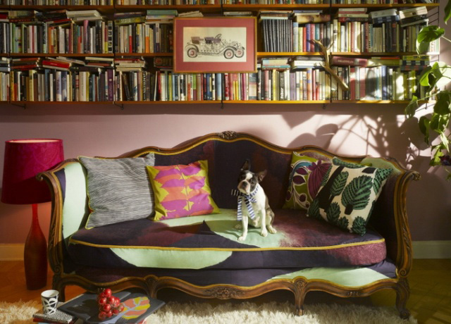Marimekko covered sofa