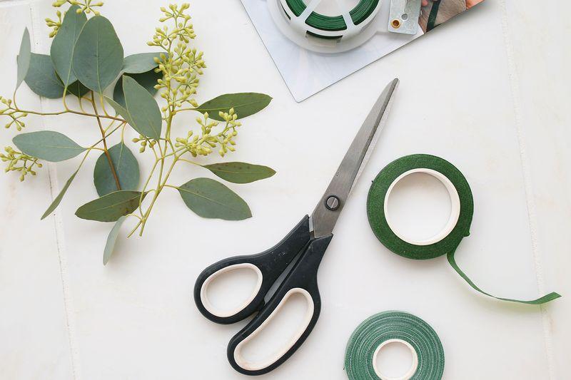 How to make eucalyptus hair wreaths