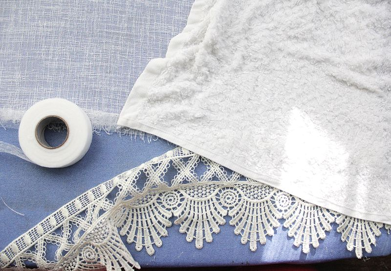 Step 3- use a damp cloth and stitch witchery to fuse the trim
