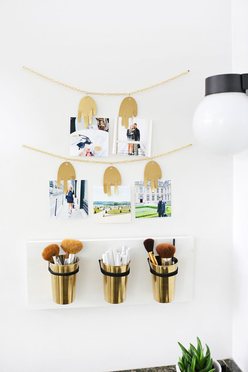 Metal hand photo garland DIY (click through for tutorial