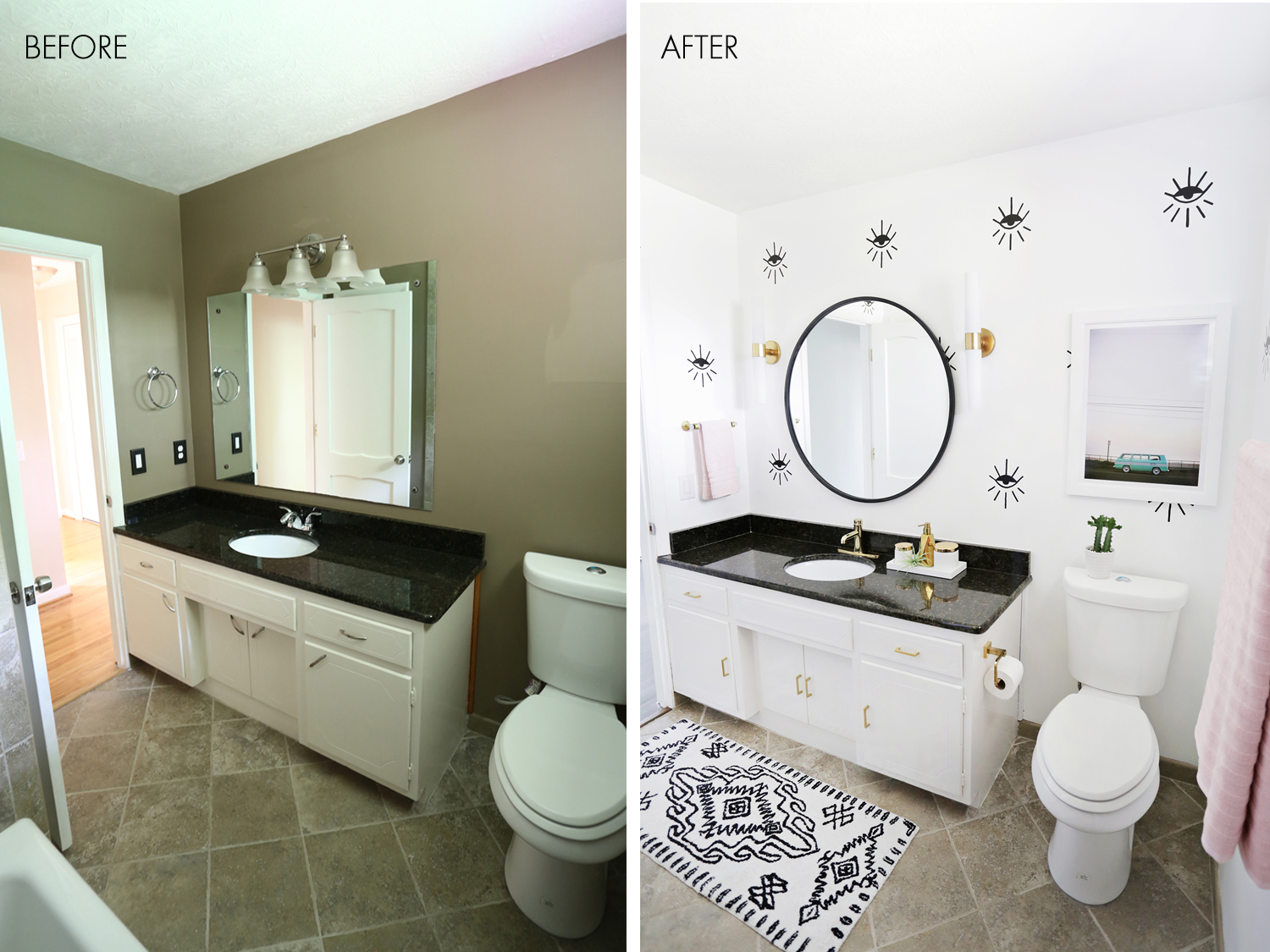 Outstanding Lauras Guest Bathroom Before After A Beautiful Mess Best Image Libraries Thycampuscom
