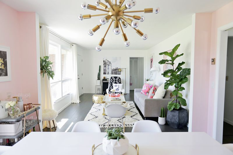Bright Airy Sittingdining Room Makeover Click Through To See Before And After