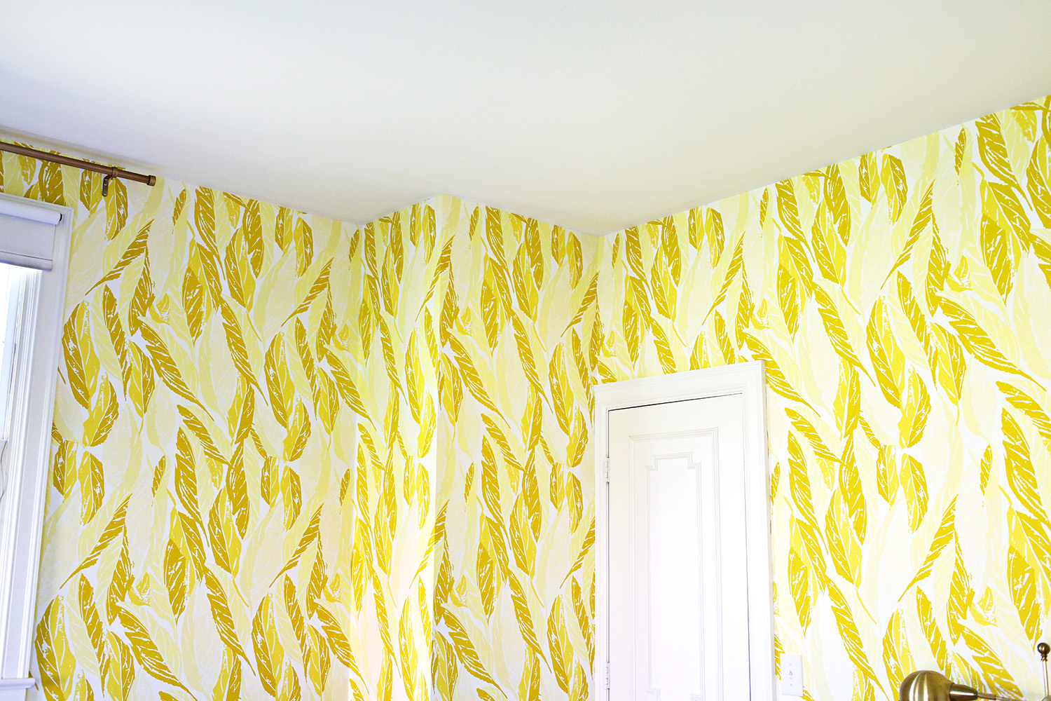 Yellow wallpaper by Hygge & West