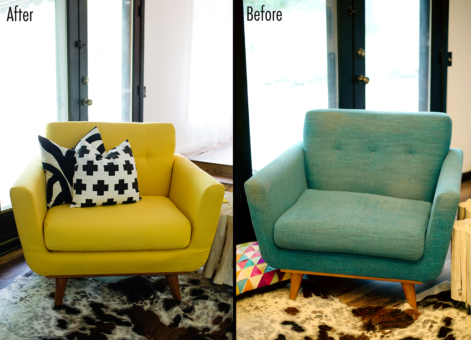 My Reupholstered Armchair - A Beautiful Mess