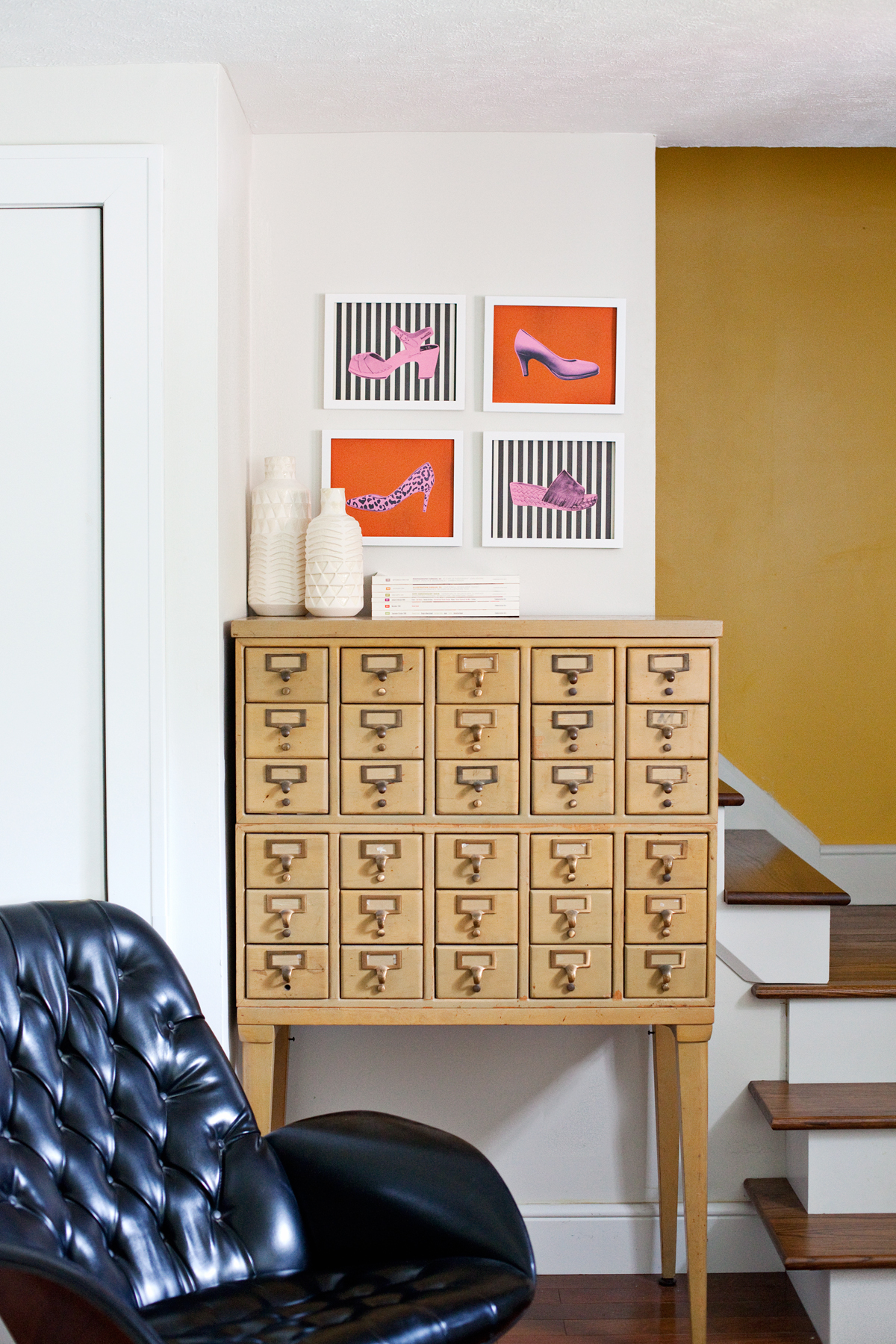 Turn your shoe collection into wall art!