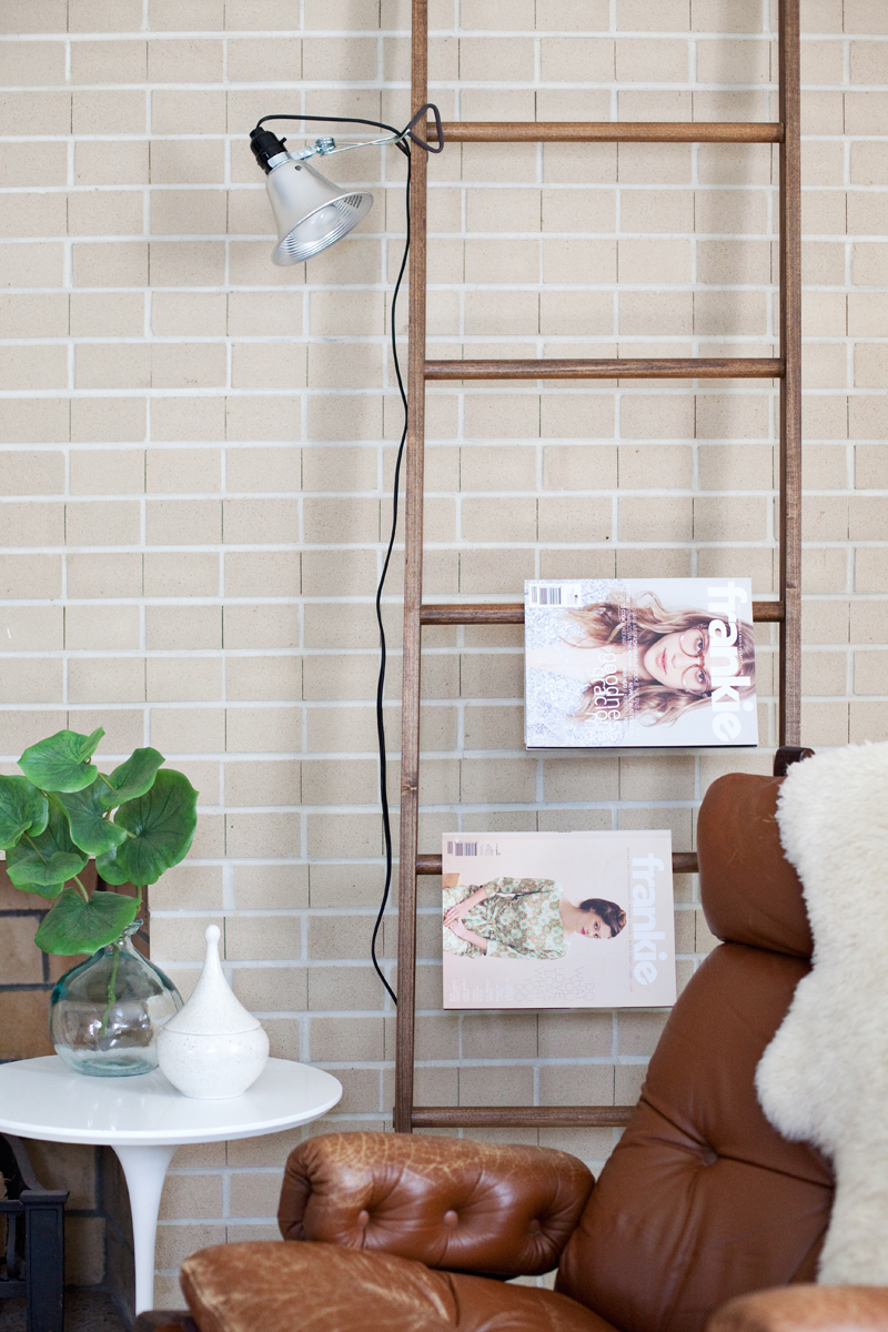 How to style a leaning ladder