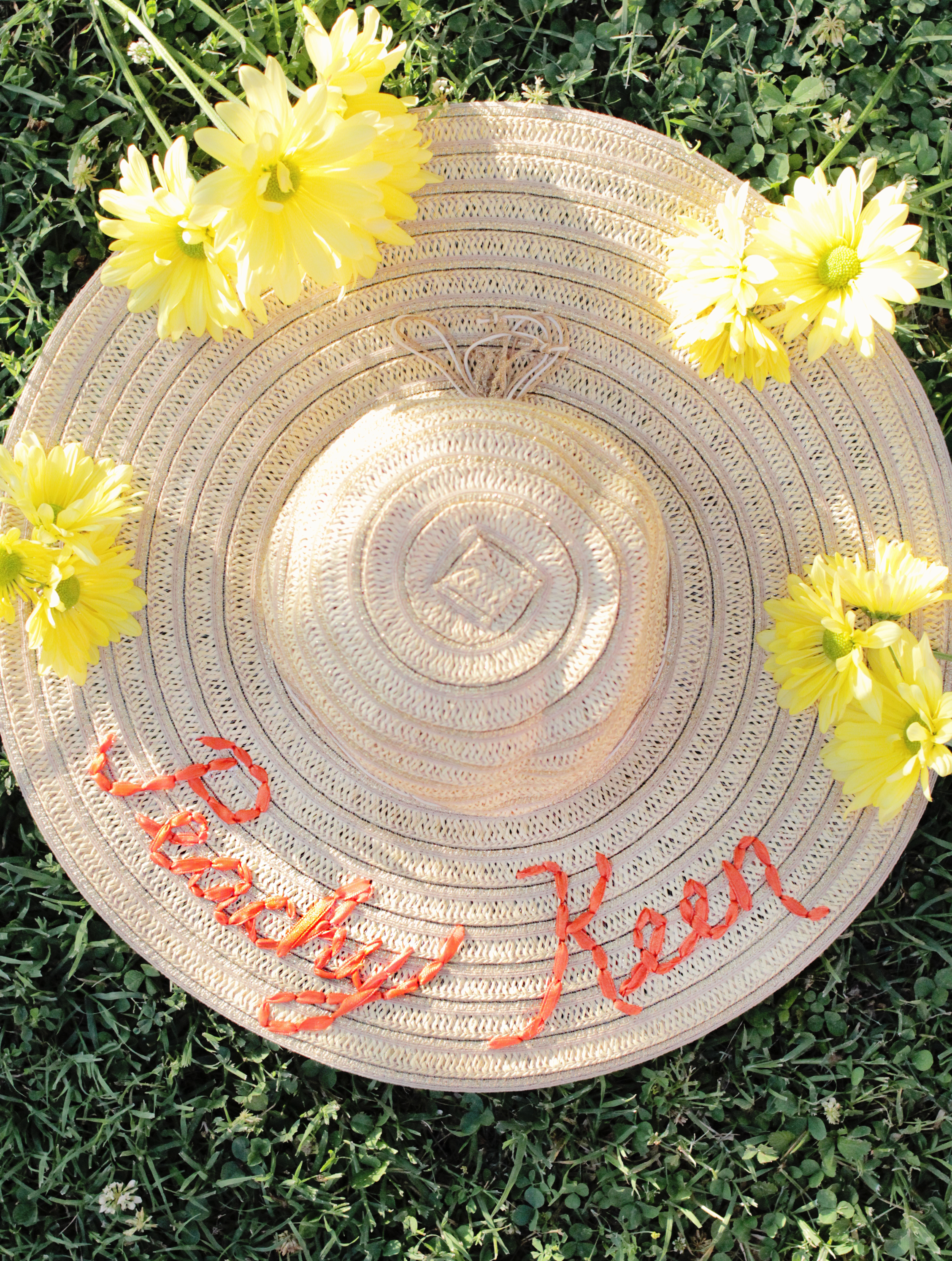 Darling embroidered hat DIY