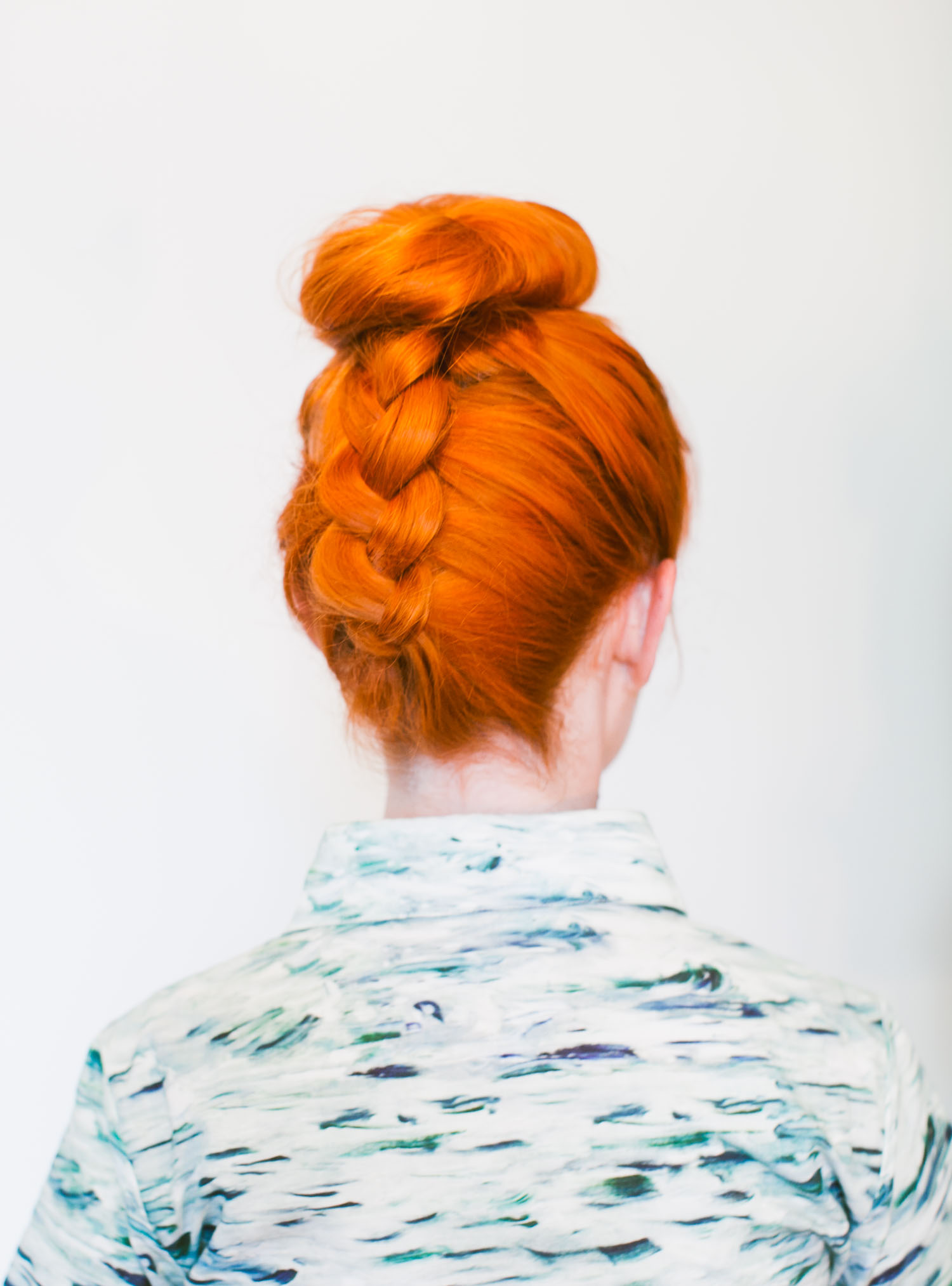 Braided top knot (click-through for the full tutorial)