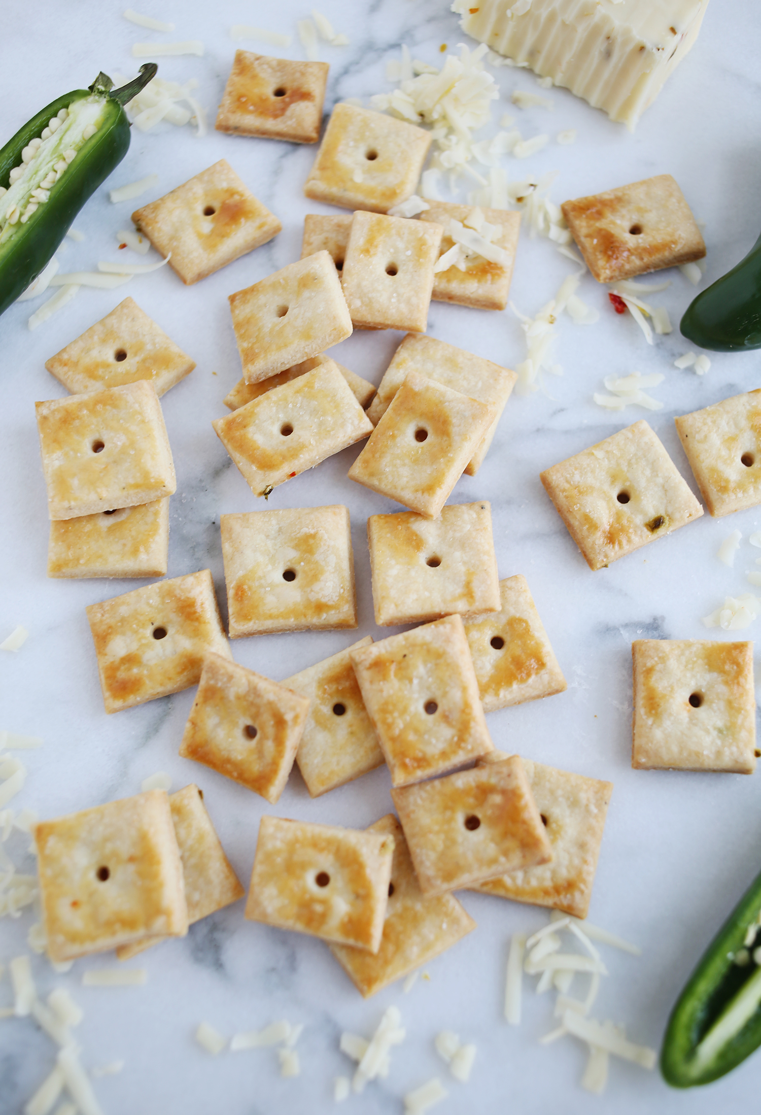 Homemade pepper jack crackers