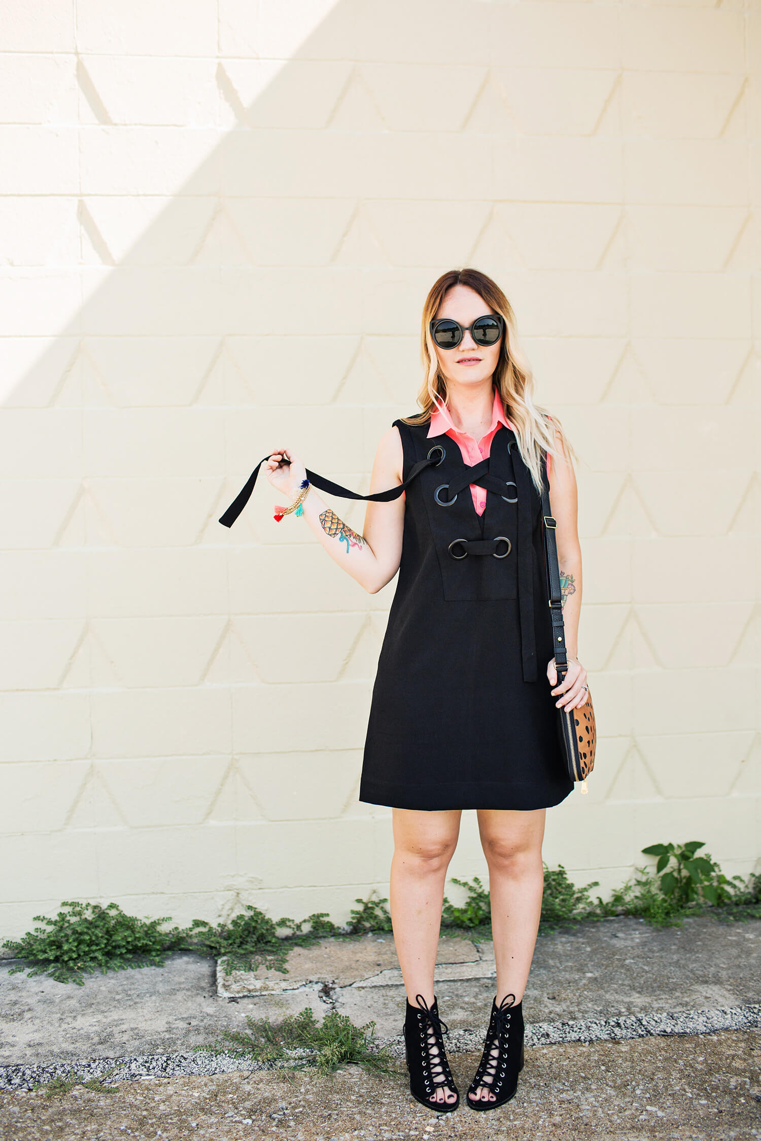 Lace up dress and shoes