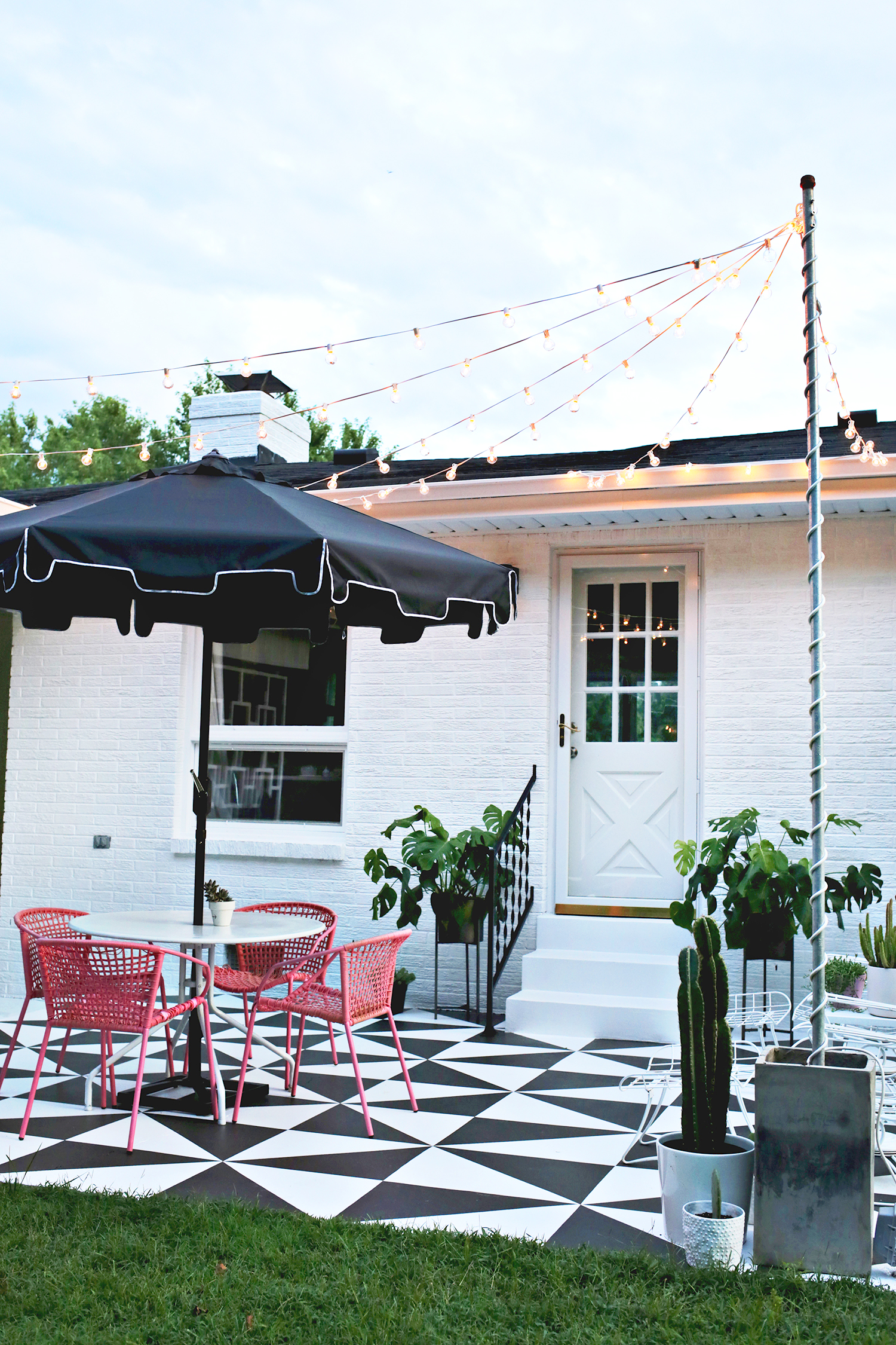 Create Outdoor Patio Lighting Without a Pergola (Renter Friendly