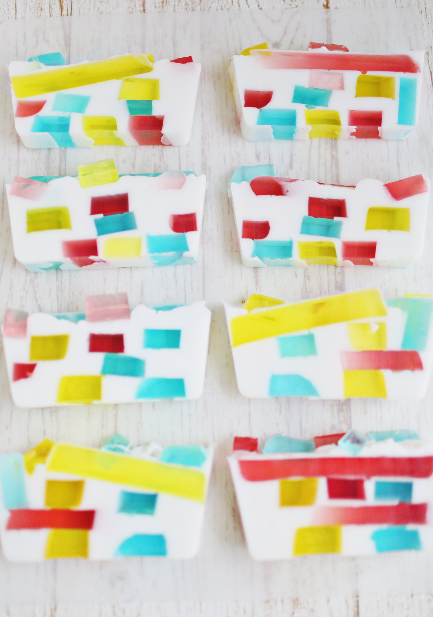 DIY stained glass soap