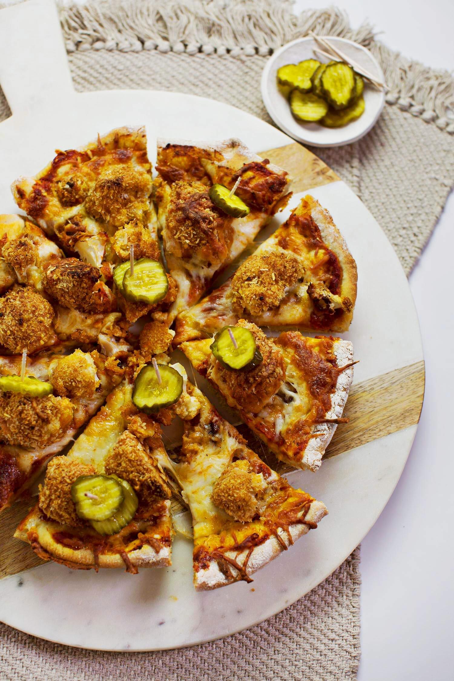 Hot Cauliflower Deep Dish Pizza (via abeautifulmess.com)