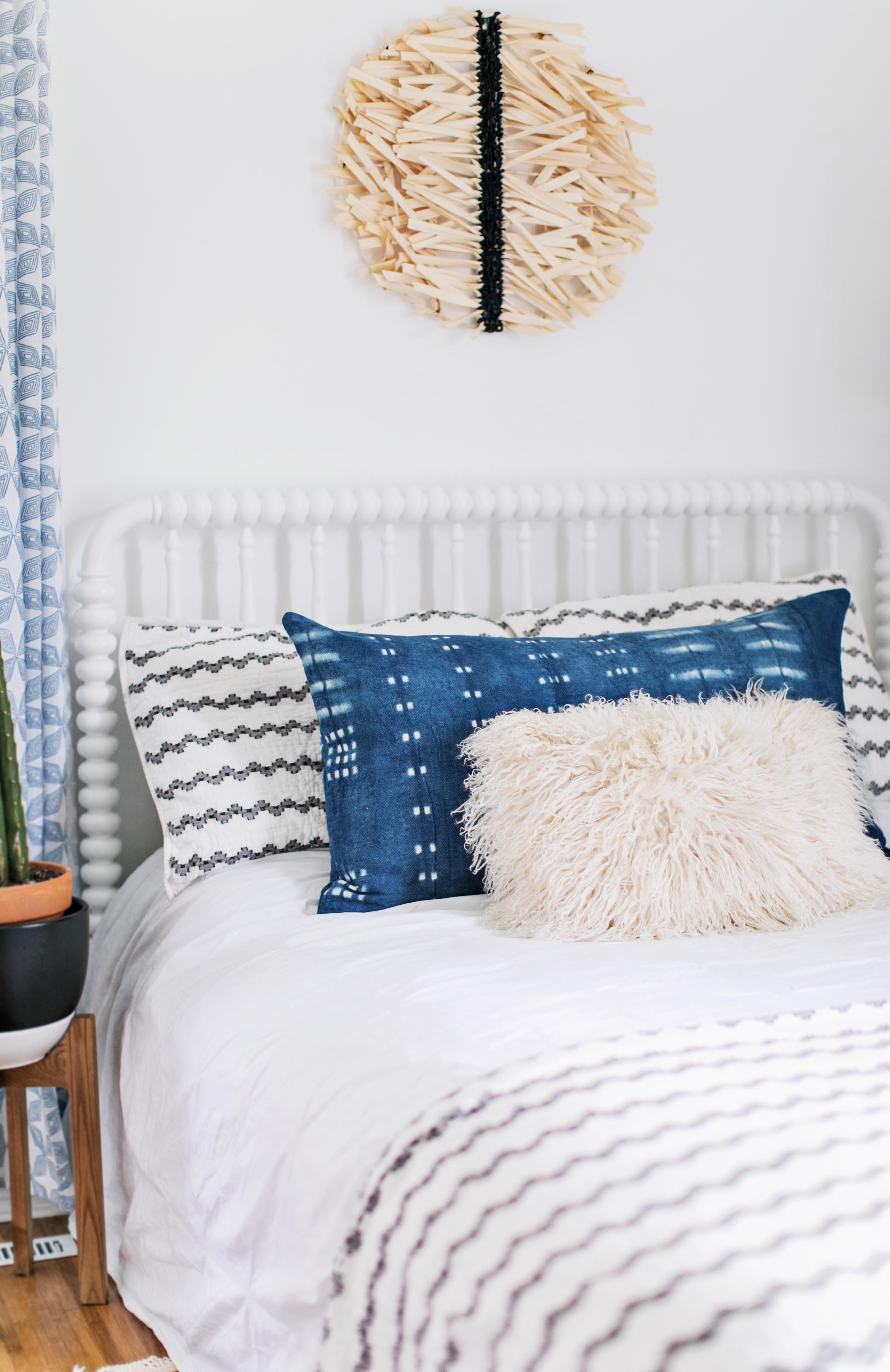 Dyeing with Indigo: Bolster Pillow DIY - A Beautiful Mess