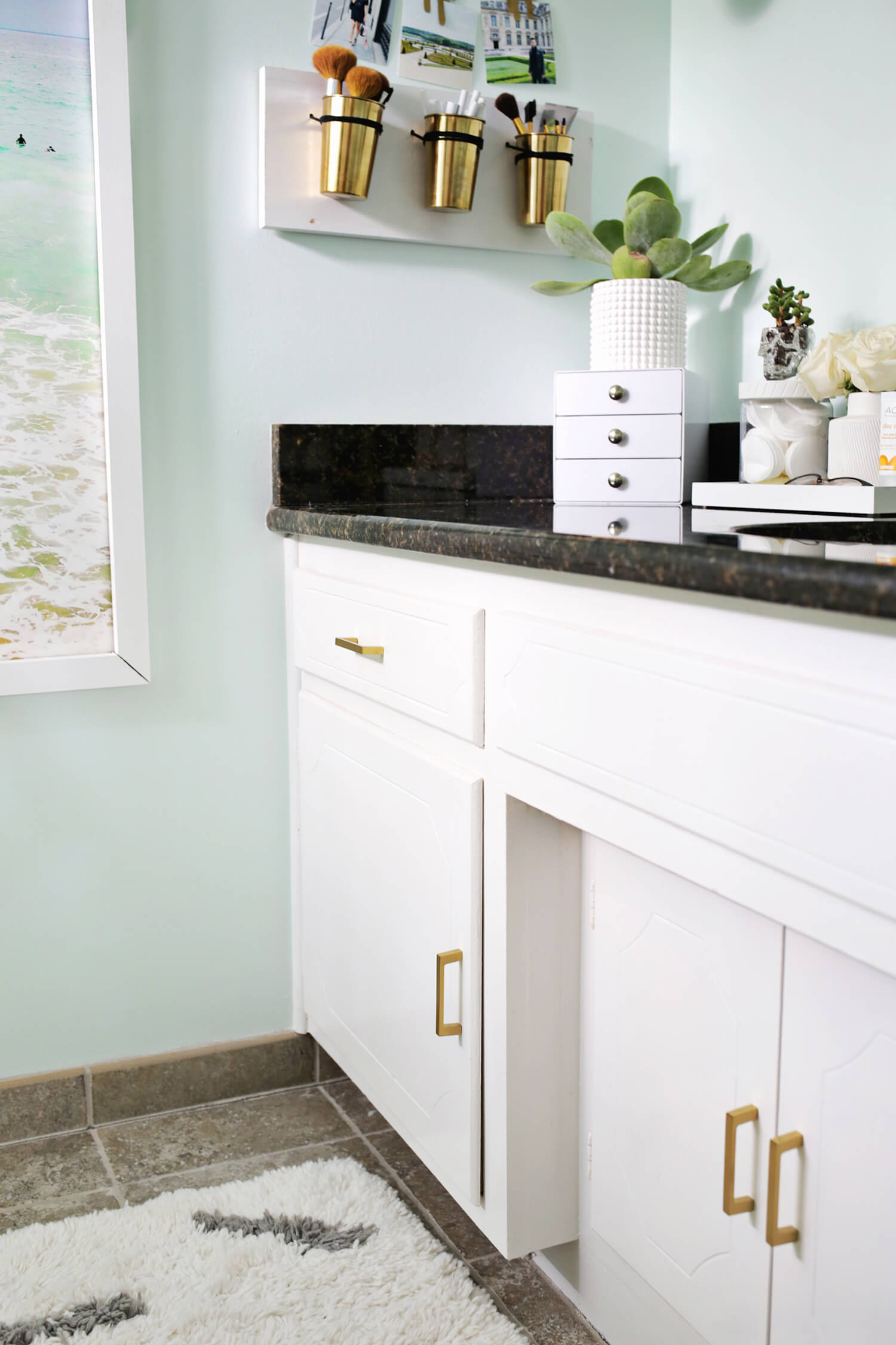 Laura's Master Bathroom Before + After! (click through to see more)
