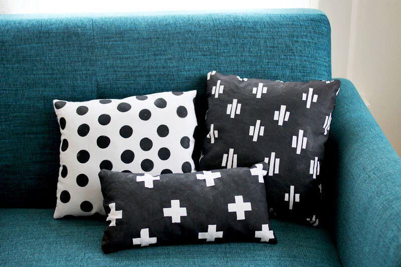 Hand Printed Pillow DIY