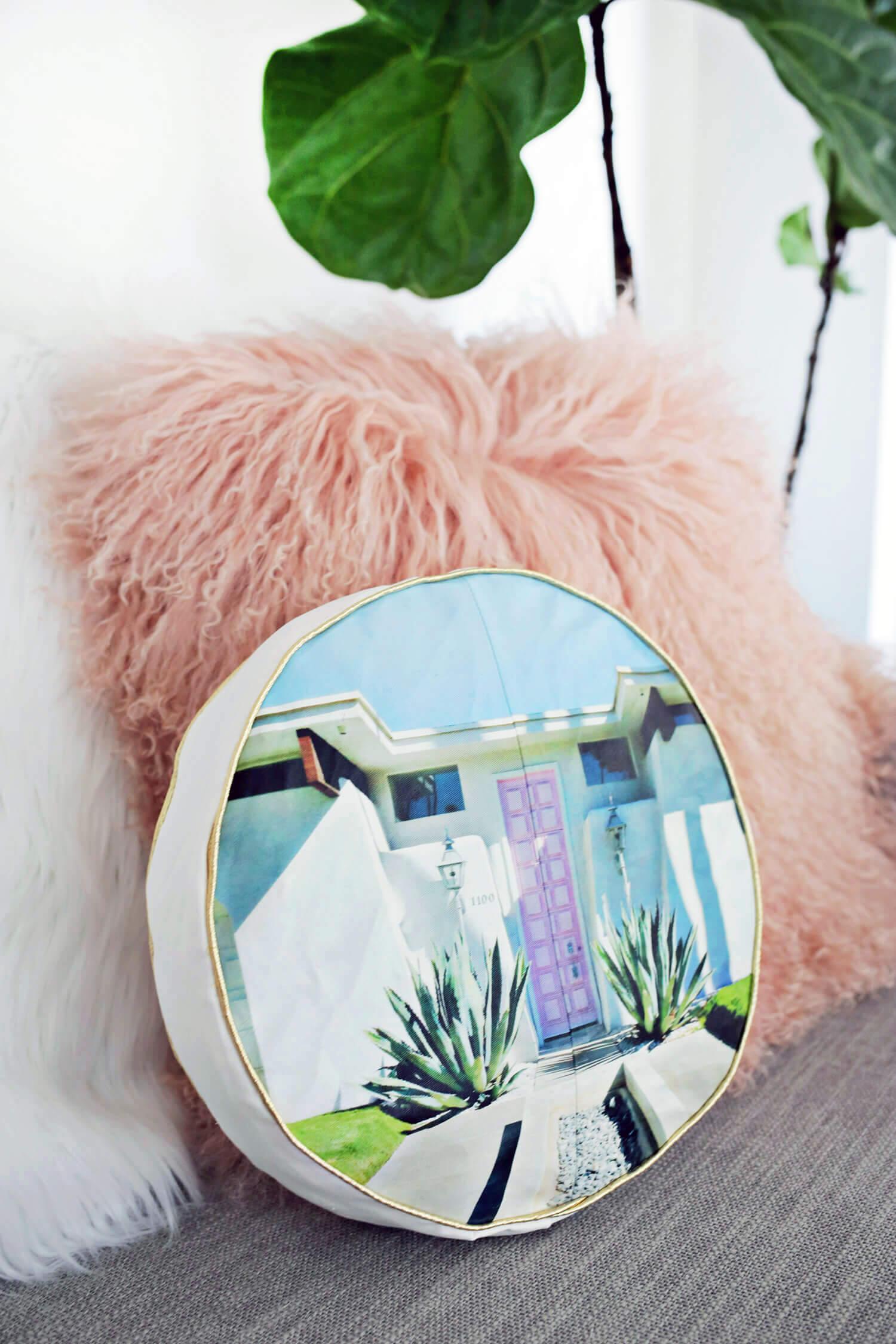 Palm Springs Pillow DIY
