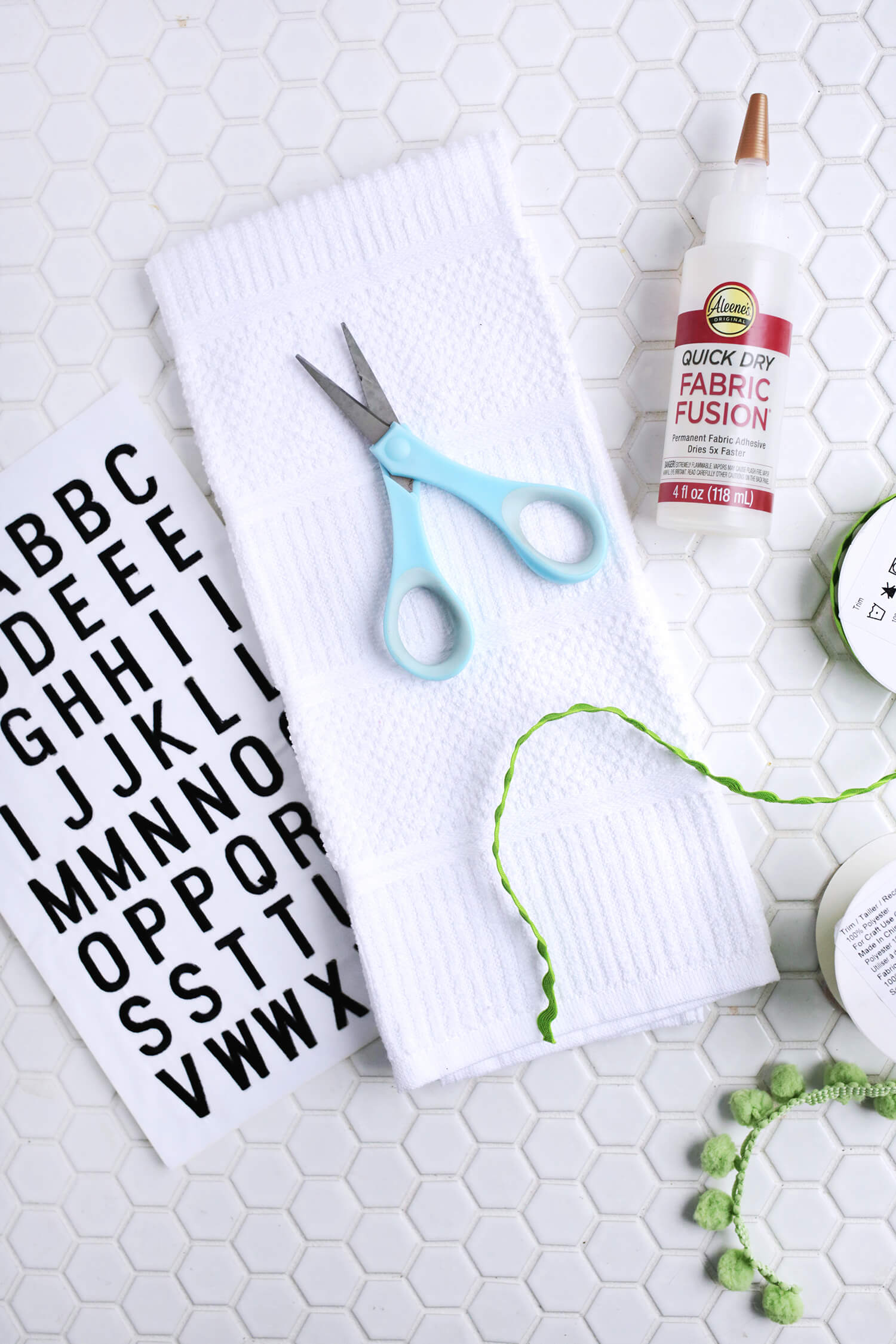 Embroidered Phrase Kitchen Towel DIY (No-Sew!) - A Beautiful ...