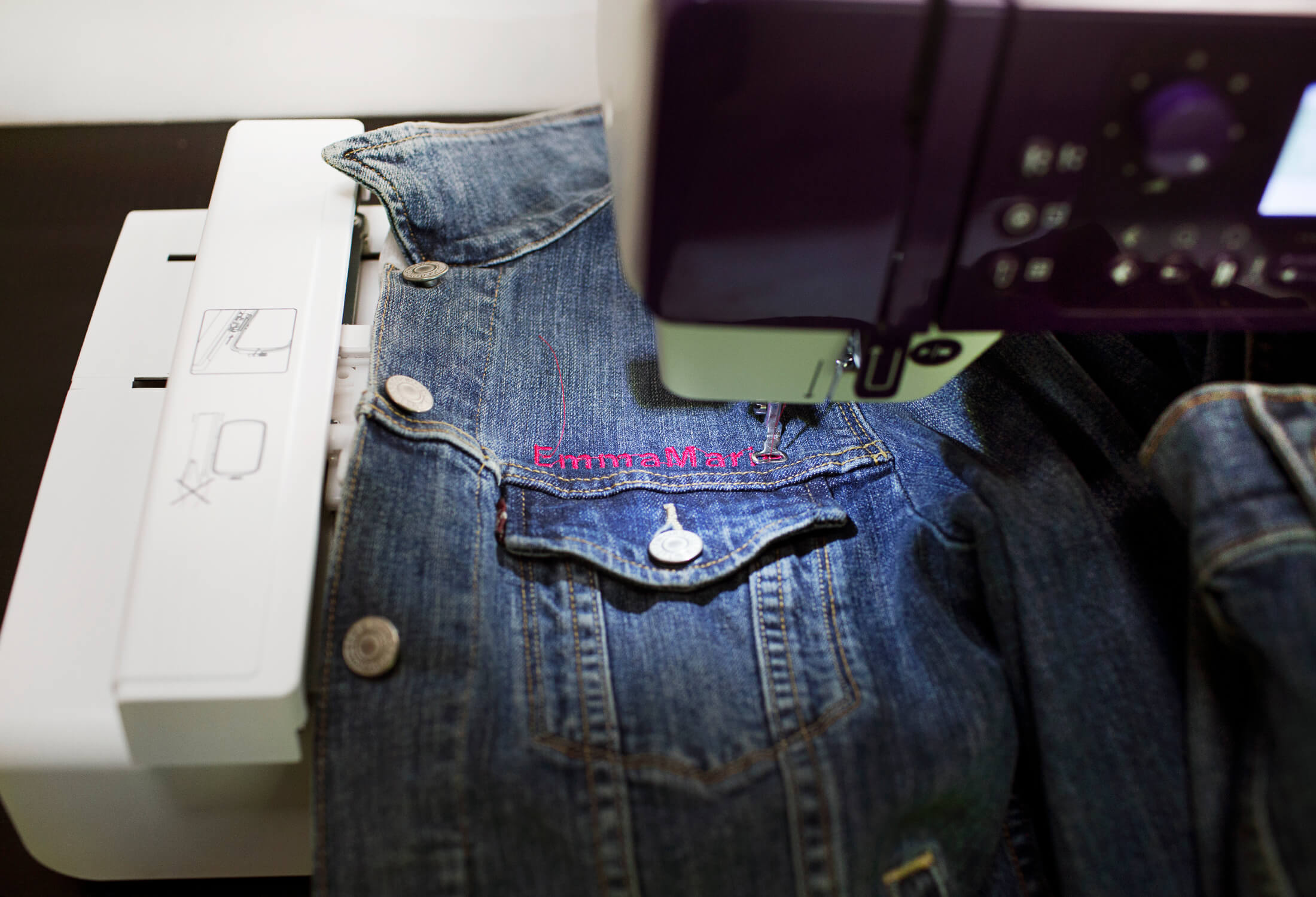 How to add your name to a denim jacket